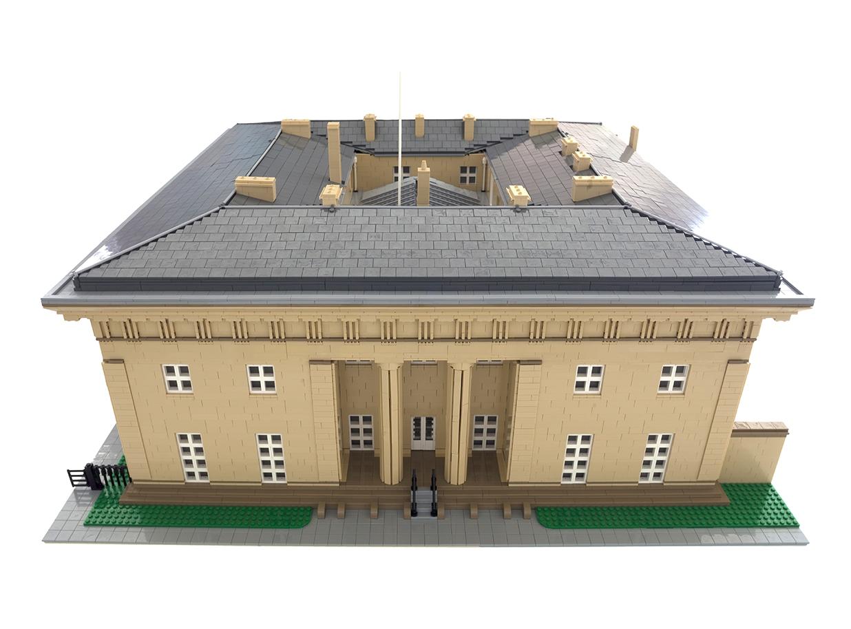 Belsay Hall Lego Model 1236X914