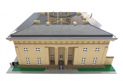 Belsay Hall Lego Model 1236X914